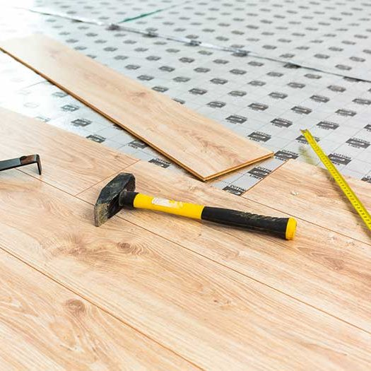 wooden floor construction