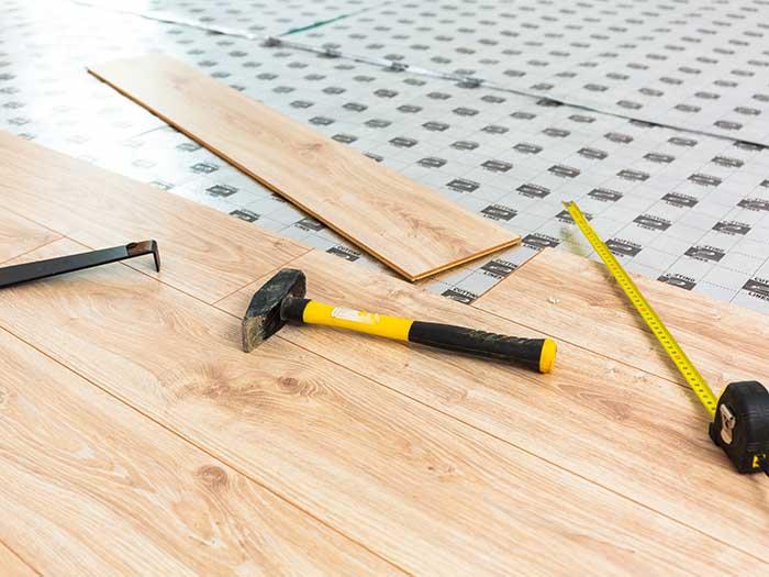 wooden floor construction